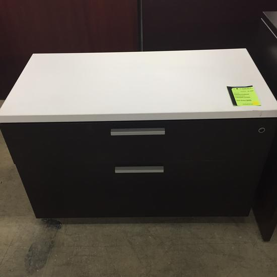 2 DRAWER LATERAL CHOCOLATE/WHITE