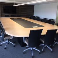 Custom Board Room Table and Sona Chairs