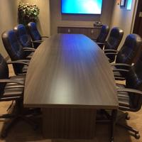 Heartwood Boardroom Table in Grey Dusk