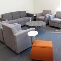 Ideon Composium Soft Seating, Arcadia Spot Benches and Encore Kenzie Tables